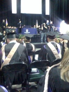 A photo from the graduate section at today\'s ceremony.