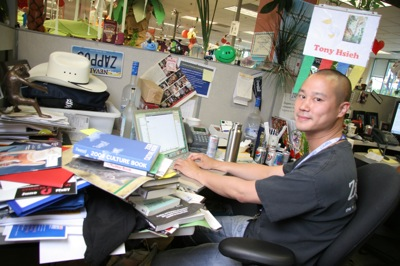 Tony Hsieh at his desk