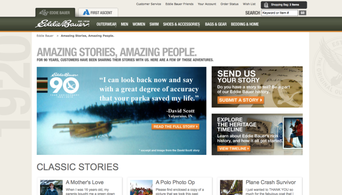 Eddie Bauer's Amazing Stories Amazing People