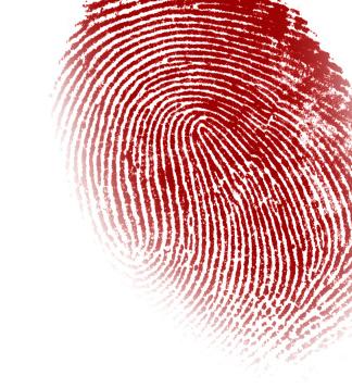 red finger print